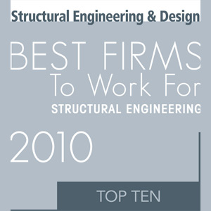 Top 10 Best Firms to Work for: Structural Engineering (2010)