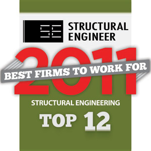 Top 12 Best Firms to Work for: Structural Engineering (2011)