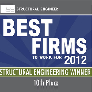 10th Best Firm to Work for: Structural Engineering (2012)