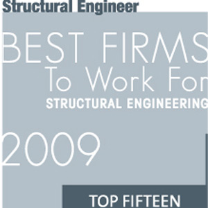 Top 15 Best Firms to Work for: Structural Engineering (2009)