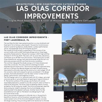 2021 Outstanding Shotcrete Project Award for our Las Olas Beach Pavilion